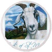 Goats Of St. Maarten- Andre Round Beach Towel