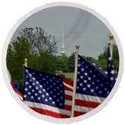 God And Country Round Beach Towel