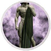 God Of The Underworld Round Beach Towel
