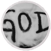 GOD Round Beach Towel