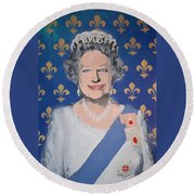 God Save The Queen Round Beach Towel