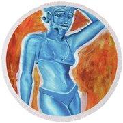 Goddess Round Beach Towel