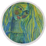 Goddess Of The North Sea Round Beach Towel
