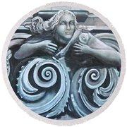 Goddess Of The Sea Round Beach Towel