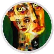 Goddess With Many Faces 671 Round Beach Towel