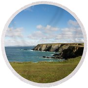 Godrevy To St Agnes, The North Cornwall Coastline Round Beach Towel