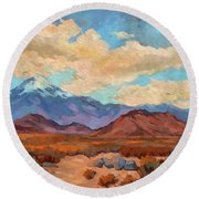 God's Creation Mt. San Gorgonio  Round Beach Towel