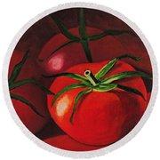God's Kitchen Series No 3 Tomato Round Beach Towel