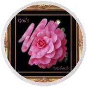 God's Paintbrush With Gold Frame Round Beach Towel