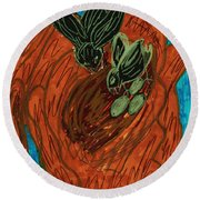 God's Supportive Hand Round Beach Towel