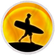 Goin' For A Surf Round Beach Towel