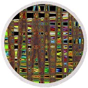 Going And Going Abstract Round Beach Towel