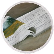 Going By The Book Round Beach Towel