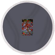 Going Red Round Beach Towel