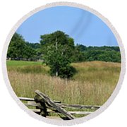 Going To Appomattox Court House Round Beach Towel