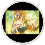Goku Super Saiyan Round Beach Towel