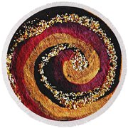 Gold And Glitter 56 Round Beach Towel