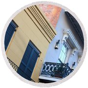 Gold And Gray In New Orleans Round Beach Towel