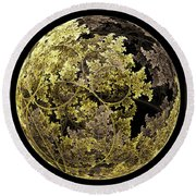 Gold And Silver Round Beach Towel