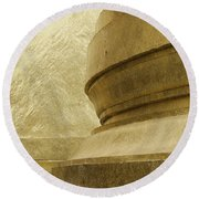 Gold Round Beach Towel