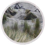 Gold Beach Oregon Beach Grass 15 Round Beach Towel