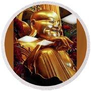 Gold Buddha 5 Round Beach Towel