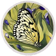 Gold Butterfly In Branson Round Beach Towel