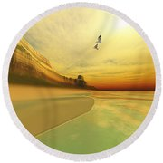 Gold Coast Round Beach Towel by Corey Ford