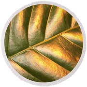 Gold Leaf Canvas Round Beach Towel