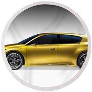 Gold Lexus Lf-ch Hybrid Car Round Beach Towel