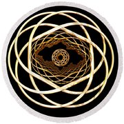 Gold On Gold Round Beach Towel