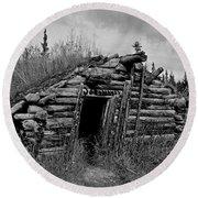 Gold Rush Cabin - Yukon Round Beach Towel