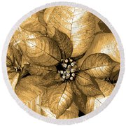 Gold Shimmer Round Beach Towel