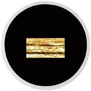 Gold Waves Round Beach Towel