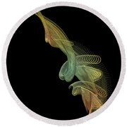 Gold Wire Abstract Round Beach Towel