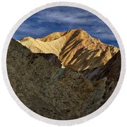 Golden Canyon View #2 - Death Valley Round Beach Towel