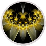 Golden Daffodils Round Beach Towel