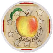Golden Delicious Two Round Beach Towel