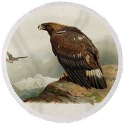 Golden Eagle By Thorburn Round Beach Towel