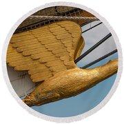 Golden Eagle Masthead Round Beach Towel