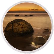 Golden Egg Round Beach Towel