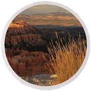 Golden Evening Light Bryce Canyon 1 Round Beach Towel