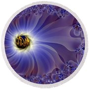 Golden Eye Round Beach Towel