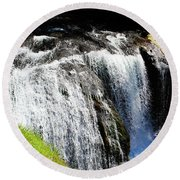 Golden Falls, Oregon Round Beach Towel