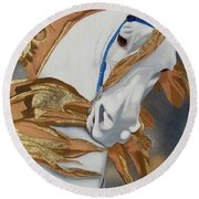 Golden Fantasy Round Beach Towel