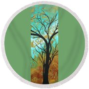 Golden Fascination 4 Round Beach Towel