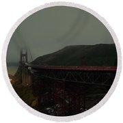 Golden Gate Bridge, California Round Beach Towel