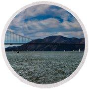 Golden Gate Bridge Panoramic Round Beach Towel