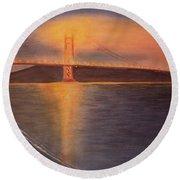 Golden Gate Bridge San Francisco Round Beach Towel