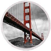 Golden Gate Bridge - San Francisco Round Beach Towel